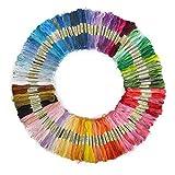 【巾着袋付き】100本98色 カラーが豊富できれい! 刺しゅう糸 まとめ買い オリジナルセット