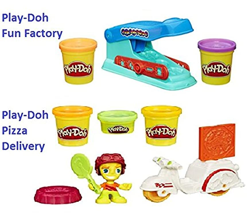 play- Doh Fun Factoryバンドルwith Play Doh Town Pizza Delivery