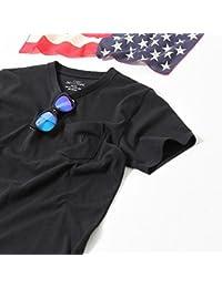 コーエン(メンズ)(coen) USAコットンVネックポケットTシャツ(ネイビー⇒WEB限定カラー)