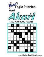 Brainy's Logic Puzzles Hard Akari: 200 Hard 10x10 Puzzles
