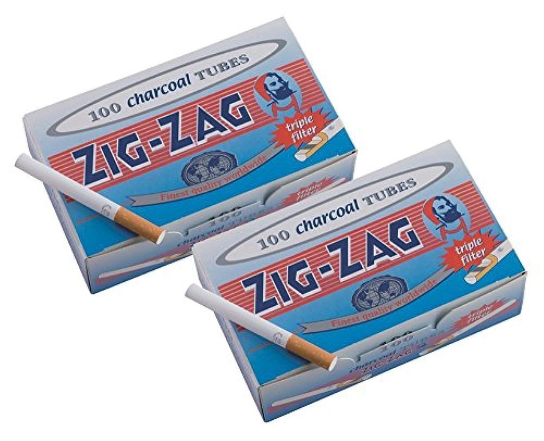 破壊シャトルミル柘製作所(tsuge) ジグザグ レギュラーチャコールチューブ [100本入り] #78874 ×10個パック 手巻きタバコ MYO