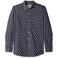 Goodthreads Men's Standard-Fit Long-Sleeve Printed Poplin Shirt