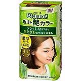 【花王】ブローネ 香りと艶カラー クリーム 4H:ハニーブラウン 80g ×5個セット