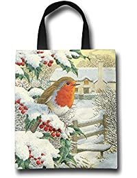 WACRDG Shopping Handle Bags,Welcome Christmas Personalized Tote Bag