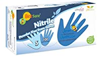 BeeSure BE1116 Nitrile Powder Free Exam Gloves, Small (Pack of 100) [並行輸入品]