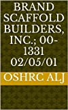 Brand Scaffold Builders, Inc.; 00-1331  02/05/01 (English Edition)