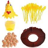 SimpleLifeチキンドロップゲーム - チキンしないでください卵のゲーム子供たちはエキサイティングな楽しみを引き出し羽おもちゃギフト