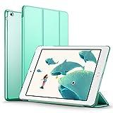 iPad Mini ケース クリア ESR iPad Mini2 ケース レザー PU iPad Mini3 ケース 軽量 スタンド機能 傷つけ防止 オートスリープ ハード三つ折 iPad Mini3/2/1(初代第二三世代)専用スマートカバー(ミントグリーン)
