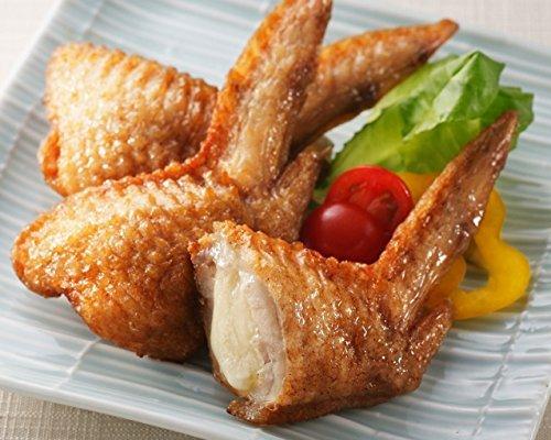 レンジでチンですぐに食べれる! 揚げずに美味しい 焼き手羽先チーズ 手羽餃子 (5本入り×5袋)