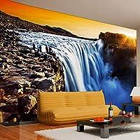 LJJLM カスタム壁画壁紙現代3Dステレオ環境に優しい設定太陽滝リビングルームソファ背景写真壁紙-160X120CM