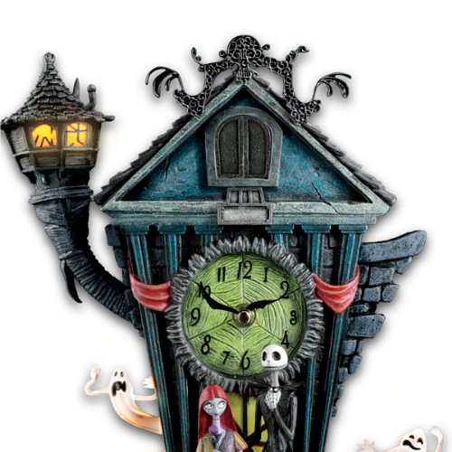 Cuckoo Clock: Tim Burton's The Nightmare Before Christmas Wall Clock ティム・バートン ナイトメアー カッコウ時計 Bradford Exchange社【並行輸入】
