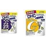 【セット買い】DHC ヘム鉄 徳用90日分 & ビタミンC(ハードカプセル)徳用90日分