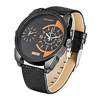 Tiandao メンズ 腕時計 防水 革バンド ビジネス メンズ腕時計 (SKU : WA6882BB)