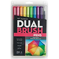 Tombow Dual Brush Pens 10/Pkg-Bright (並行輸入品)