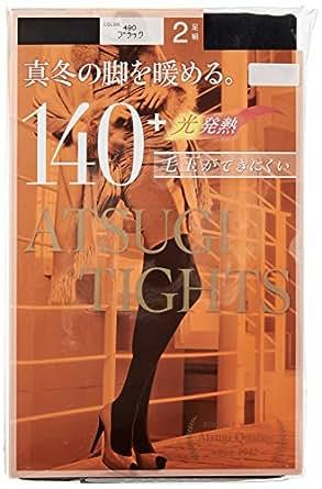 (アツギ)ATSUGI タイツ 140D アツギ タイツ (ATSUGI TIGHTS) 140デニール 〈2足組2セット〉 FP14002P 480 ブラック L~LL