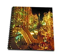 (12x12 memory book) - Florene America The Beautiful - Beautiful San Antonio Riverwalk At Night - Drawing Book