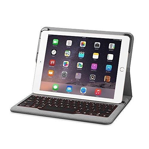 Anker Backlit Bluetooth キーボードケース iPad Air 2用 (1回の充電で5ヶ月連続使用可能、7色のバックライトモード)