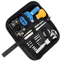 Cisixin 腕時計修理工具13点セット 時計修理 電池交換 ベルトの長さ調整 裏蓋こじ開けツール ミニ精密ドライバー 収納ケース付き