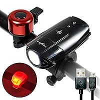 USB Rechargeable Bike Light Waterproof Bicycle Headlight (L2 Black) [並行輸入品]