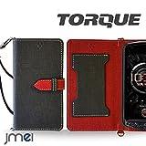TORQUE G01 ケース JMEIオリジナルカルネケース VESTA ブラック au エーユー トルク スマホ カバー スマホケース 手帳型 ショルダー スマートフォン