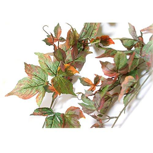 【店舗・イベント】冬の装飾 ガーランド 紅葉 造花 ディスプ...