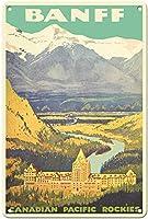 Banff Canada Rockies ティンサイン ポスター ン サイン プレート ブリキ看板 ホーム バーために
