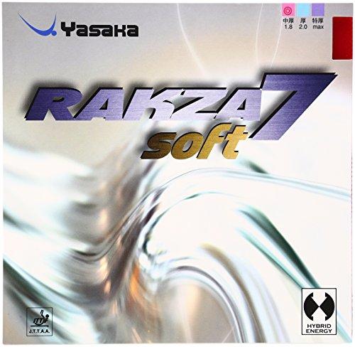 ヤサカ(YASAKA) 卓球ラバー ラクザ7 ソフト RED B-77(Men'sLady'sJr)