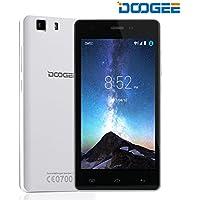 SIMフリースマートフォン, DOOGEE X5 (5.0インチHD IPS スクリーン 3G (au不可) Android 6.0 MT6580 クアッドコア 8GB ROM 5MPカメラ GPS Xender Micro SIM*2) スマートフォン本体 白 【一年保証】