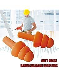 柔らかいシリコーンの耳栓の健全な絶縁材の耳の保護の耳栓の騒音低減の収納箱が付いている睡眠のプラグ