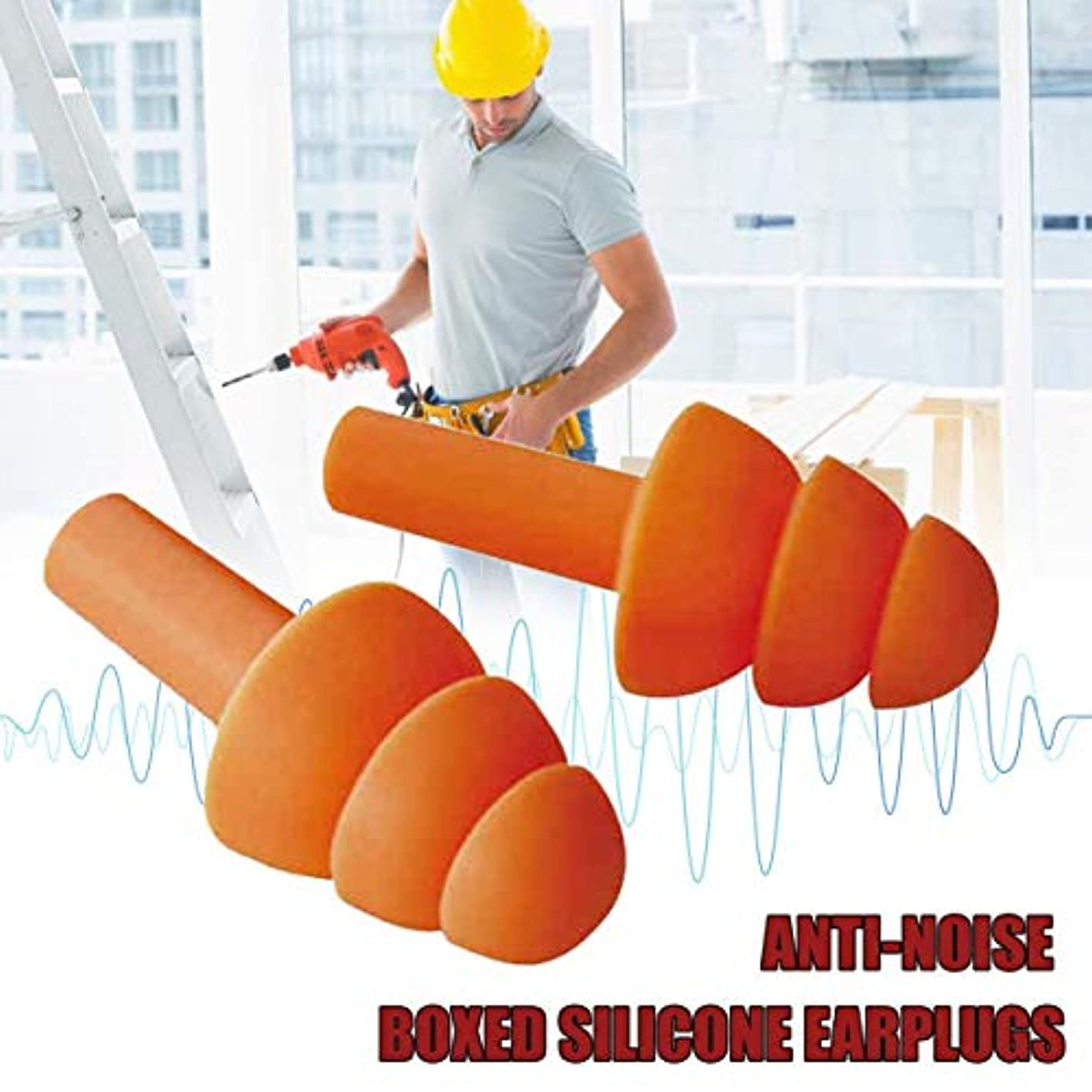 滅びる性別株式会社柔らかいシリコーンの耳栓の健全な絶縁材の耳の保護の耳栓の騒音低減の収納箱が付いている睡眠のプラグ