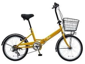CHACLE(チャクル) ノーパンク自転車 折りたたみ 20インチ 6段変速 [LEDオートライト、フロントバスケット付き] マッドオレンジ FDN-CC206HD