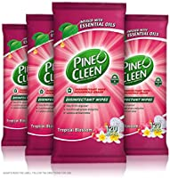 Pine O Cleen Surface Wipes Tropical Blossom, Pack of 480 wipes, (4 x 120 pack)