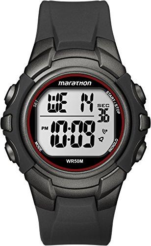 Timexメンズt5K642m6マラソングレーデジタルWatch with樹脂ストラップ,カラー:イエロー,カラー:イエロー、女性、レディース、ガールズ、モデル: t5K642m6、腕時計、手首腕時計