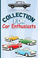 "Collection for Car Enthusiasts RED CAR: Lined Notebook , Soft Cover 6"" x 9"" ,110 pages ,Journal paper book"