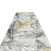 ZHAOHUI 廊下のカーペット ランナー 羽のデザイン 防汚 流さない 滑り止め、 6mmの高さを使って、 カスタマイズ可能なサイズ (色 : A, サイズ さいず : 1.1x2m)