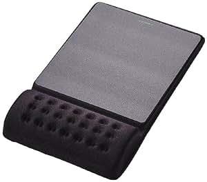 """エレコム マウスパッド リストレスト一体型 疲労低減 """"COMFY"""" ハード(ブラック) MP-096BK"""