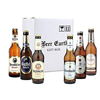 ドイツビール6本 飲み比べセット 【全品正規輸入品 】(ヴァルシュタイナー クロンバッハ エルディンガー ヴァイス ケーニッヒ ガッフェルケルシュ) 専用ギフトBOXでお届け (第2弾)