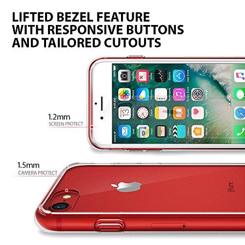 『【Ringke】iPhone 8 / iPhone 7 ケース 対応 コスパ最高 クリア 透明 落下防止 ストラップホール スマホケース [米軍MIL規格取得] TPU PC 二重構造 吸収耐衝撃カバー Qi充電対応 Fusion (Clear/クリア)』の4枚目の画像