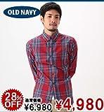Men's Slim-Fit Shirts レッドタータン (250507042) (S,M,L,XL) オールドネイビー画像①