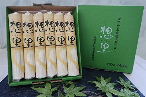 JA全農みやぎ ササニシキ米粉入りうどん「想里(ふるさと)」 6袋入(化粧箱)