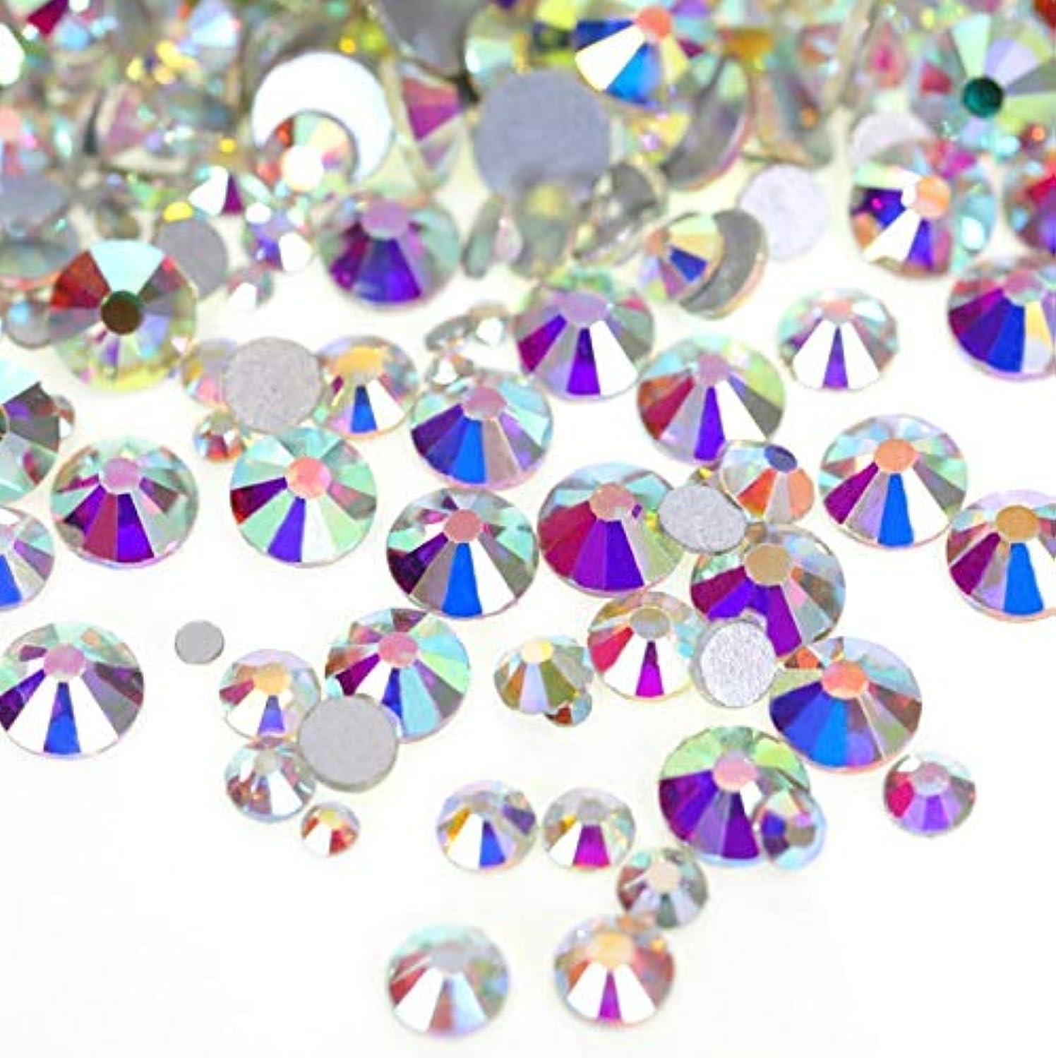広告主端教育学【ラインストーン77】高品質ガラス製ラインストーン オーロラクリスタル(3.0mm (SS12) 約200粒)