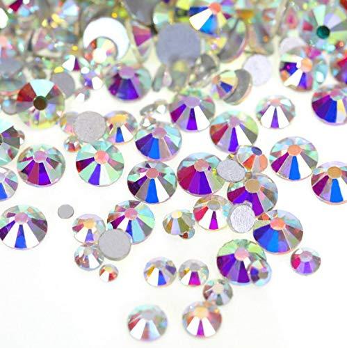 【ラインストーン77】高品質ガラス製ラインストーン 色 サイズ選択可 SS3~SS50 (オーロラクリスタル, SS20:約4.7mm(約1440粒))