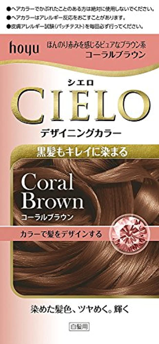 正しく歯科の騒ぎホーユー シエロ デザイニングカラー (コーラルブラウン) ×6個