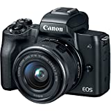 Canon EOS M50 Mirrorless Camera Kit w/EF-M15-45mm and 4K Video (Black)