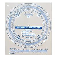 Westcott分度器時間速度距離Disc電卓、ホワイト( tsd-400)