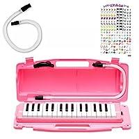 全音 323AH ピアニー PINK アルト 鍵盤ハーモニカ&スペア吹き口ホースセット レッスンどれみふぁシール付