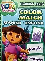 Dora Learning Cards Colour Match Spanish English
