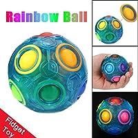boomdan 2018光応力RelieverマジックレインボーボールFunキューブFidgetパズル教育おもちゃを子供/大人 ブルー dfsg56+32