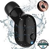 Bluetooth イヤホン Temdan ip68防水 片耳 軽量 ミニ 充電式 高音質 マイク付 通話可能 ジムお風呂 日本語説明書
