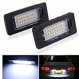 [TKOOFN] LEDライセンスランプ LEDナンバー灯ユニット ナンバーライト SMD3528 AUDI /アウディ フォルクスワーゲン/VW対応 2個セット